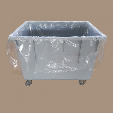 100 Stück Containersäcke, 85 x 65 x 110 cm, 30 my,transparent, LDPE