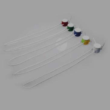 DIBE-Kordelverschluss, Kordellänge 60 cm lang, in fünf verschiedenen Farben