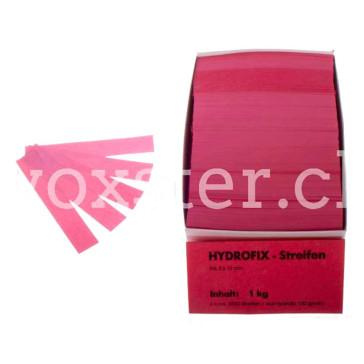 Hydrofix-Papierstreifen in 11 Farben