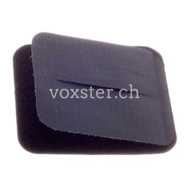 Schnallenschutz, Klettverschluss, 12 x 10 cm, scharz