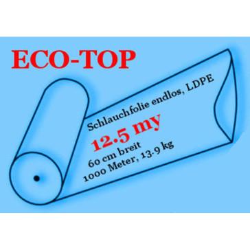 Schlauchfolie endlos, LDPE, 12.5 my, 60 cm breit, 1000 Meter