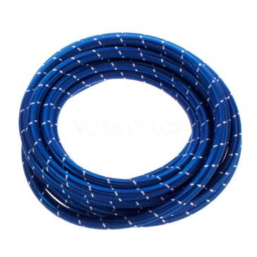 Silikon-Dampfschlauch 5 x 3.5 mm, mit Terylene blau und weissem Kernfaden