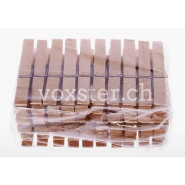 50 Wäscheklammern aus Buchenholz, 7.2 cm lang