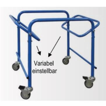 Transportwagen-Gestell für Wannen und Körbe, blau