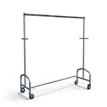 Industrierollkleiderständer aus Metall, stapelbar, Farbe Alugrau, Länge 156 cm