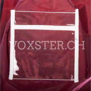 Wäschesack 56 x 71 cm Burgund-rot mit Kartenhalter