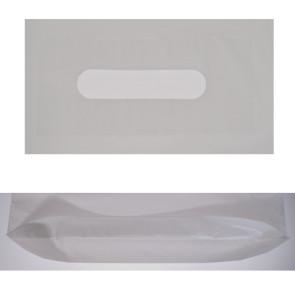 500 Plastiksäcke 40 x 45 cm, LDPE, 40 mü, mit Verstärkung am Griffloch