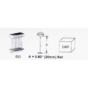 Dennison® Heftfäden, Nylon, weiss, 2 cm
