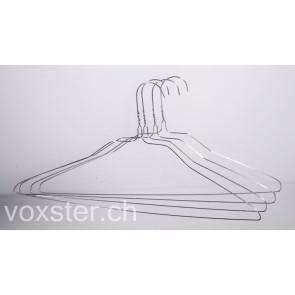 500 Hemdenbügel 2,00 mm, mit 45 cm breitem Quersteg, für die Hemdenmeisterin