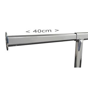 Rollkleiderständer aus Metall komplett verchromt, Länge 150 cm