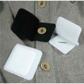Knopfschutz, Klettverschluss, 6 x 7 cm, schwarz oder weiss