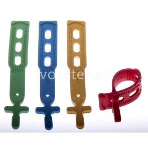 Gumminetzverschluss 3-Loch, in 4 verschiedenen Farben