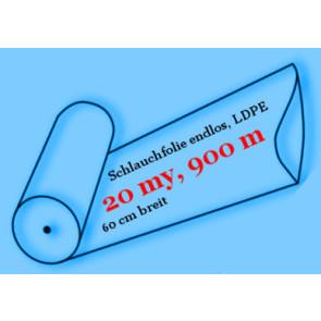 Schlauchfolie Optima, endlos, LDPE, 20 my, 60 cm breit, 900 Meter
