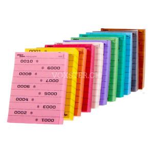 Streifenblock nummeriert in 11 Farben